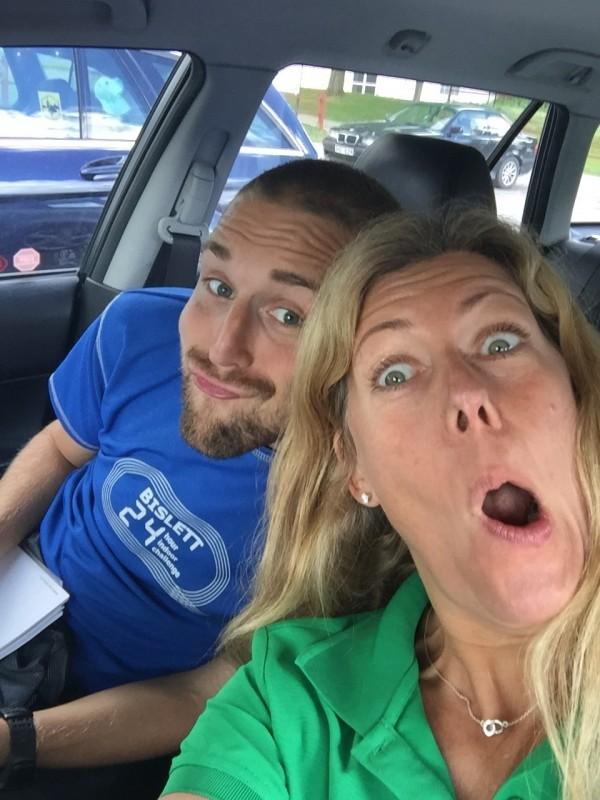 Roxen och jag fick många timmar i RallyMazdan. Foto: privat
