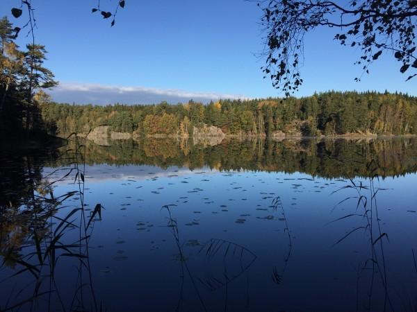 Vackert med de små sjöar vi sprang förbi. Foto: privat