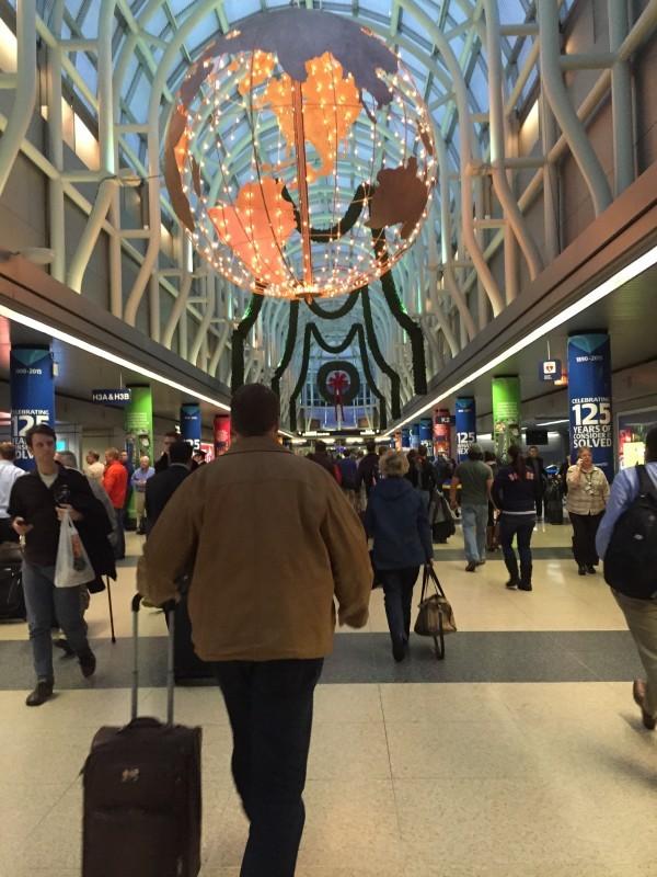 På Chicagos flygplats. Foto: privat