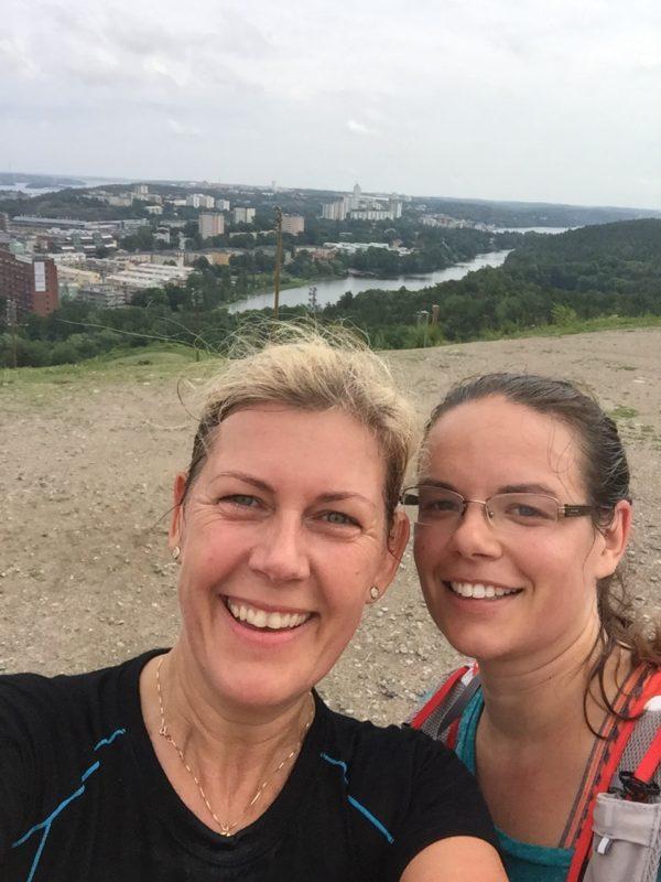 Jag och Hanna - hon snart på ett målfoto i Davos! Foto: privat