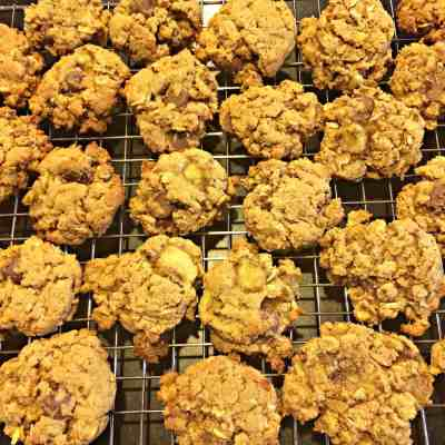 Gluten Free Oatmeal Banana Chocolate Chip Cookies