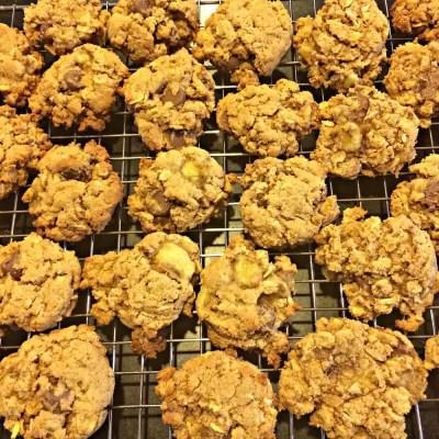 Gluten Free Oatmeal Banana Chocolate Chip Cookies