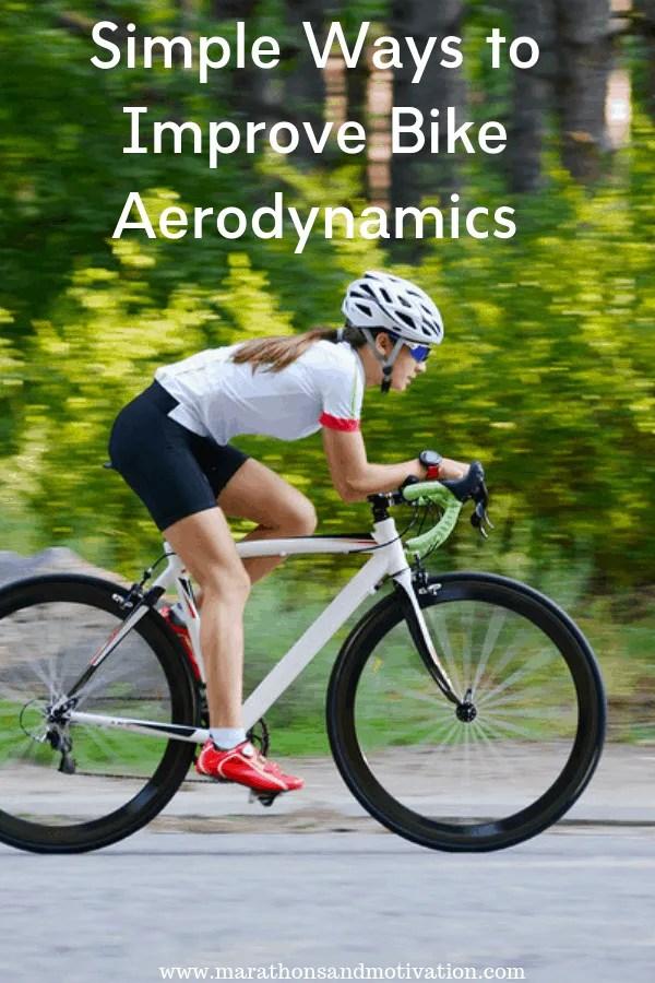 Simple ways to improve bike aerodynamics: Cycling equipment, bike helmet, body position, and aero bars can be inexpensive ways to improve cycling speed