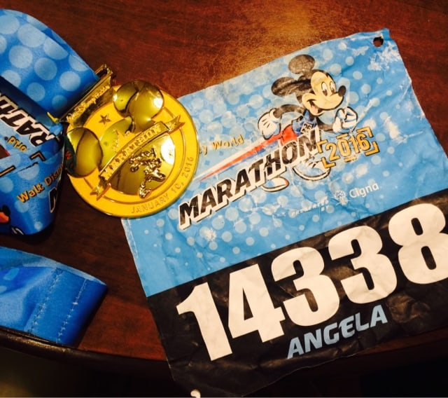 Walt Disney World Marathon Race Bib and Medal