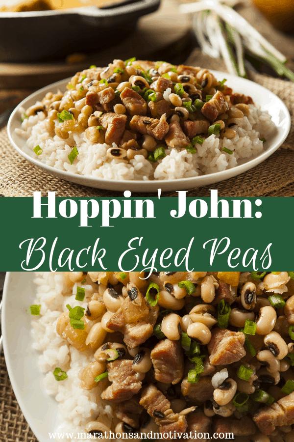 Hoppin' John: Southern Black Eyed Peas over White Rice