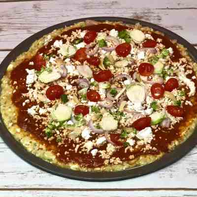 Gluten Free Veggie Pizza with Cauliflower Crust