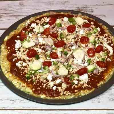Gluten Free Veggie Pizza with Cauliflower Crust