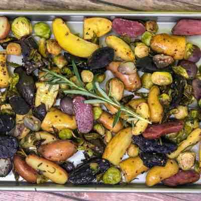 Roasted Fingerling Potatoes & Brussels Sprouts