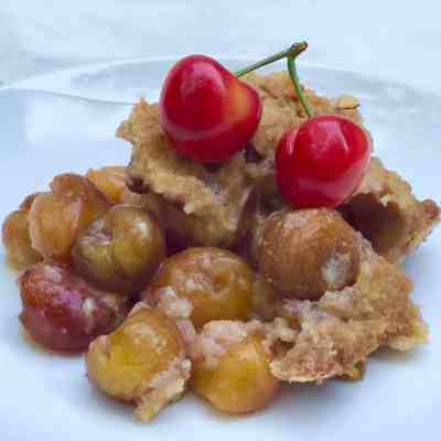 Fresh Rainier Cherry Crumble