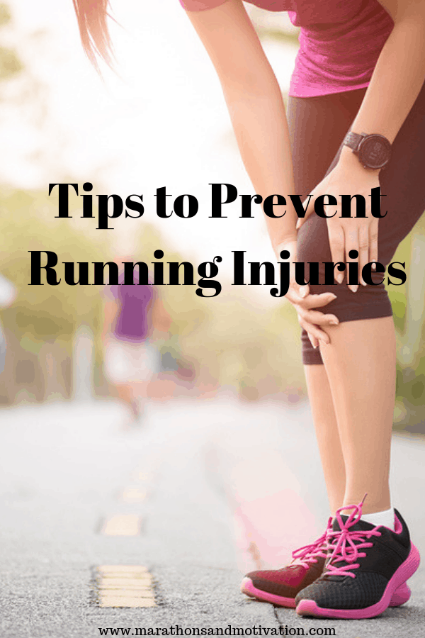 Tips to Prevent Running Injuries: Stretching, Massage, Foam Rolling, Gradually increase mileage, Running shoes #running #runninginjuries