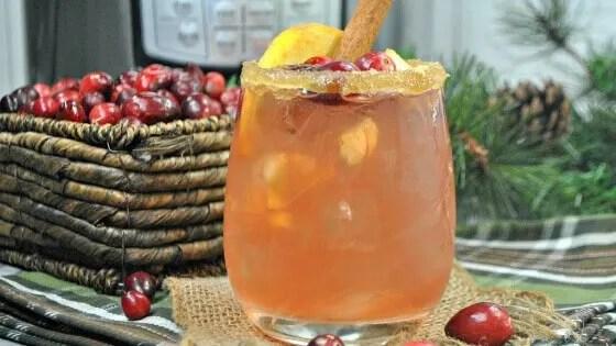 Instant Pot Cranberry Apple Cider Bourbon