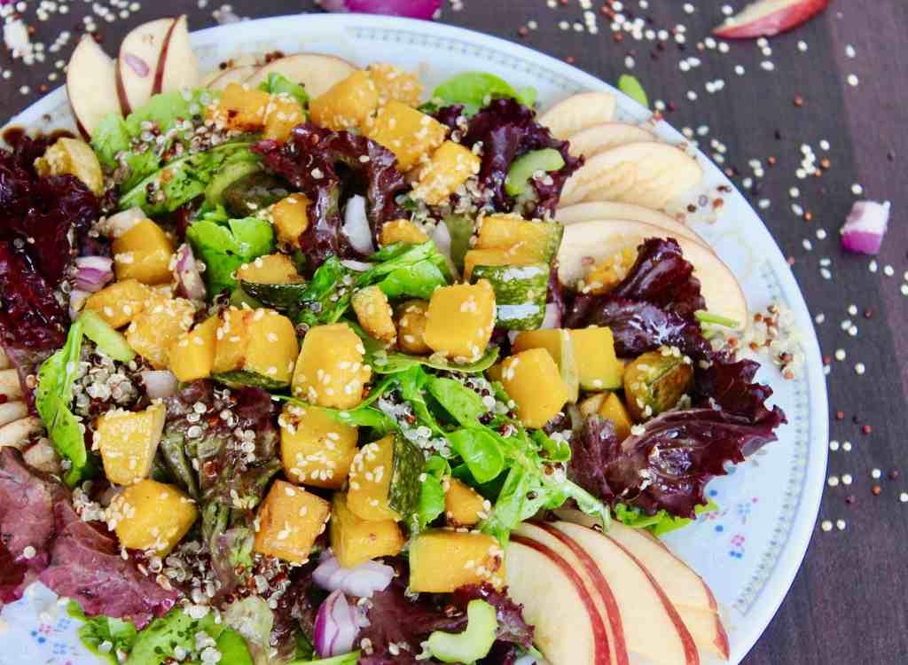 Sautéed squash quinoa salad