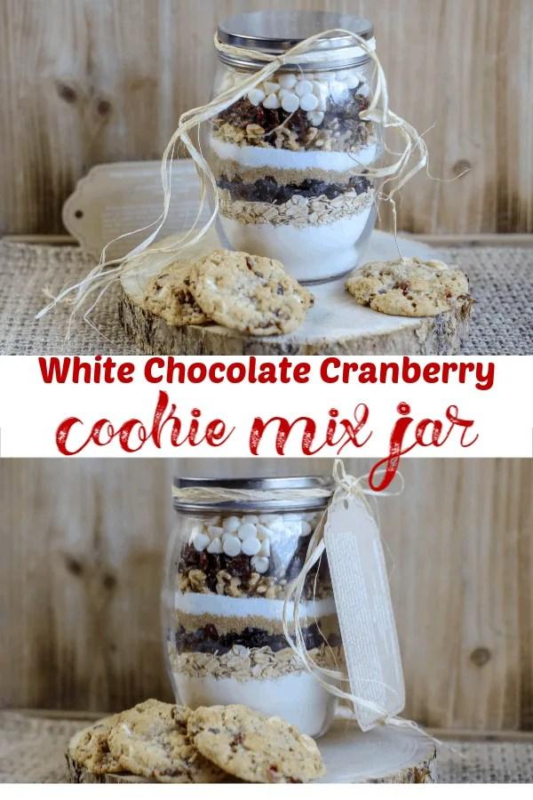 White Chocolate Cranberry Cookie Mix Jar