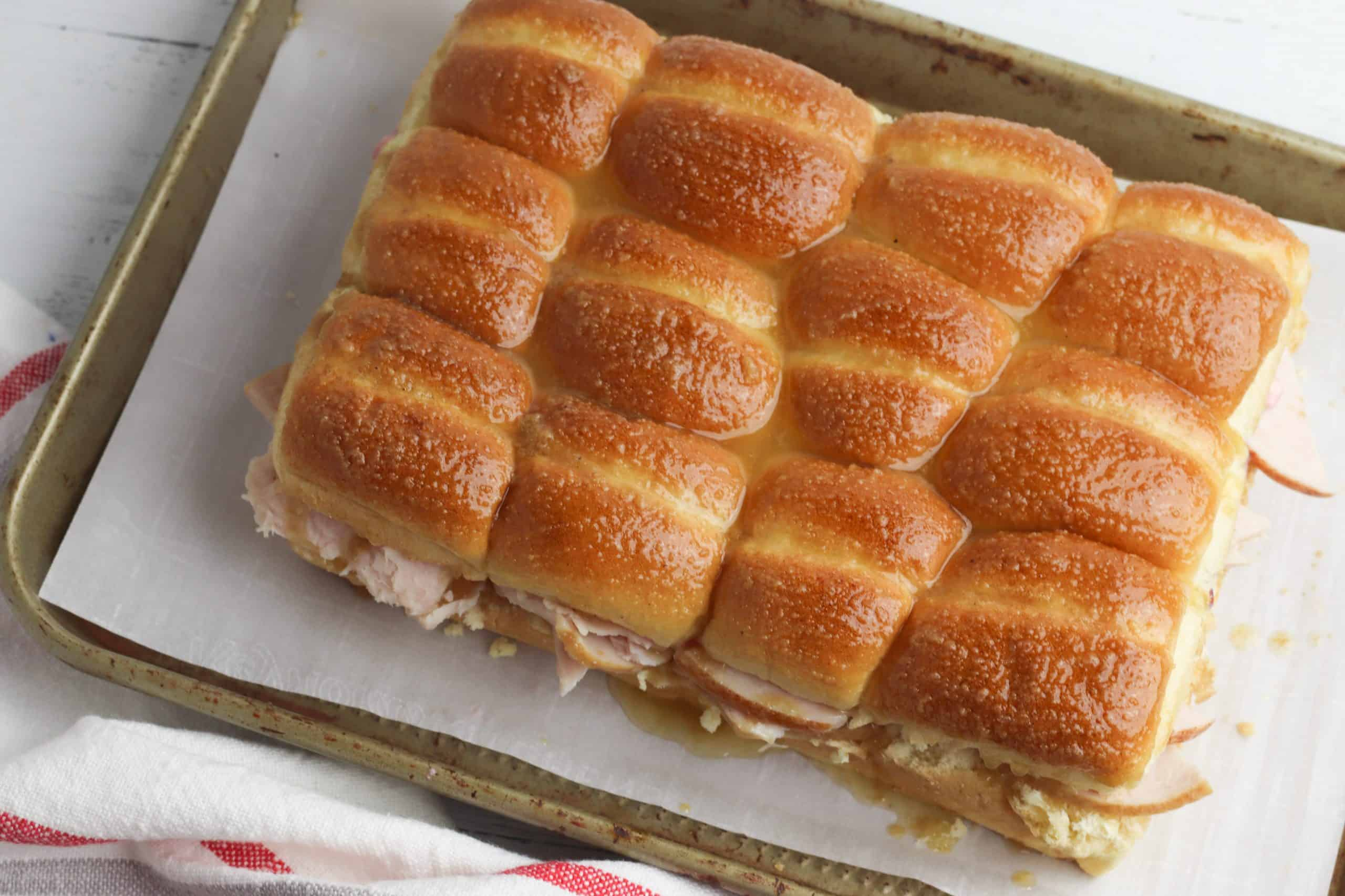 Turkey Sliders on Hawaiian Rolls