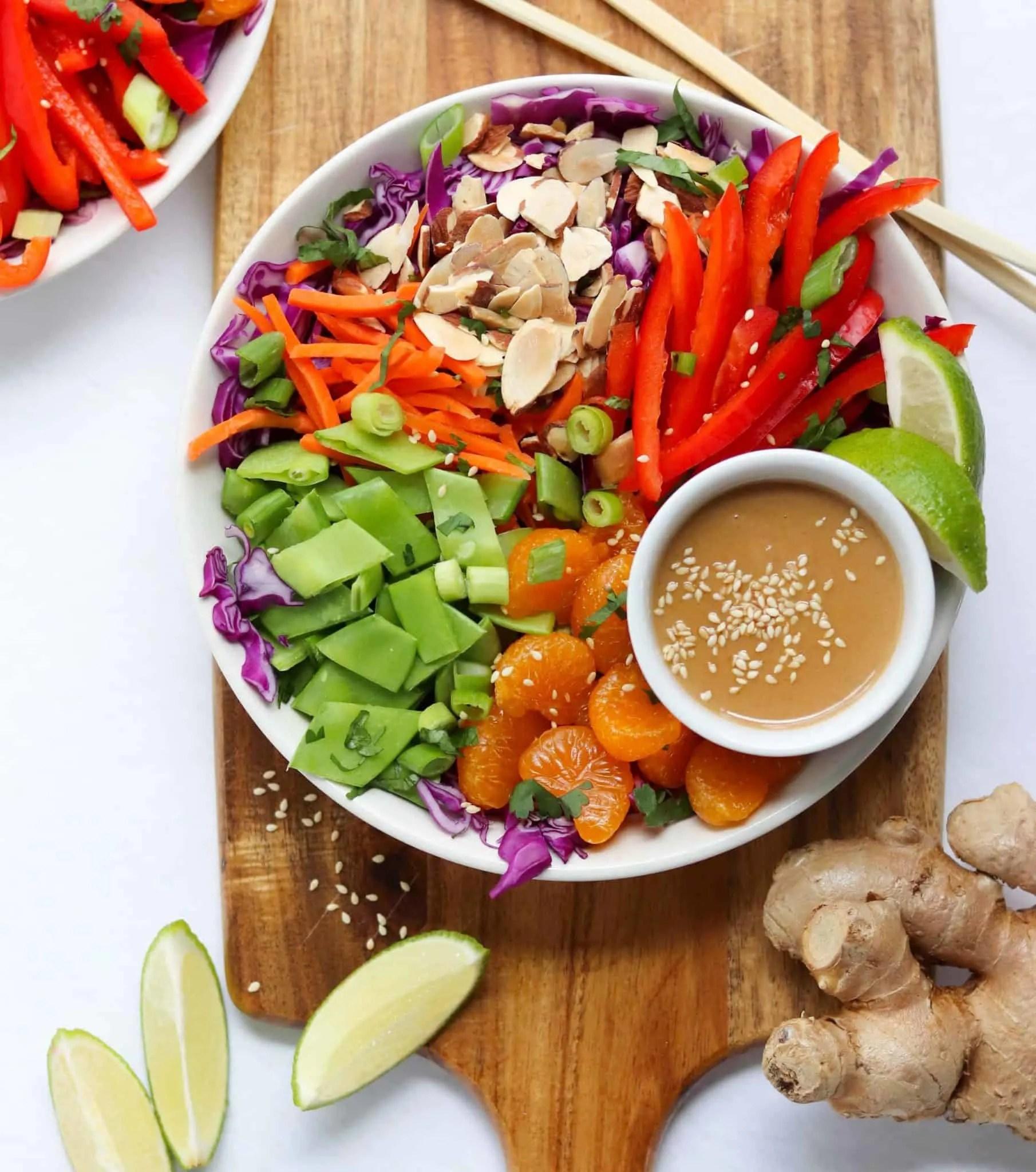 Vegan salad lunch recipe