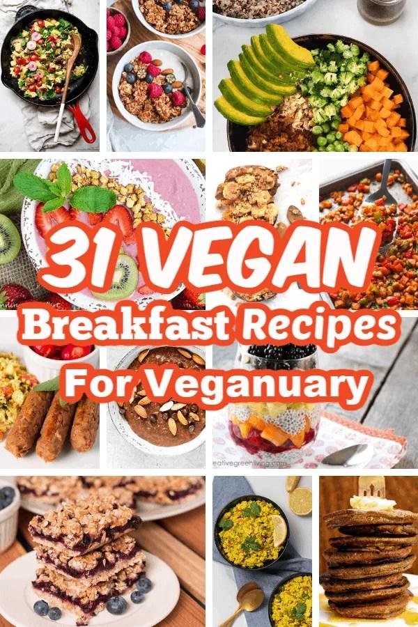 31 Vegan Breakfast Recipes for Veganuary