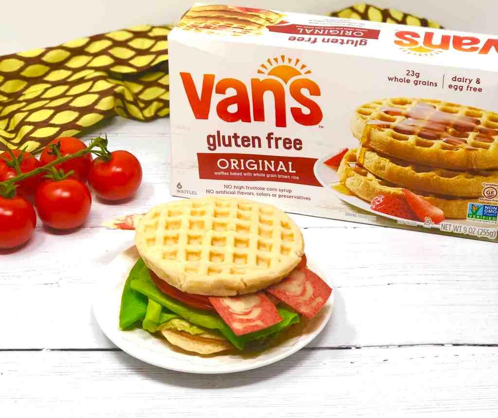 Van's waffles and vegetarian BLT