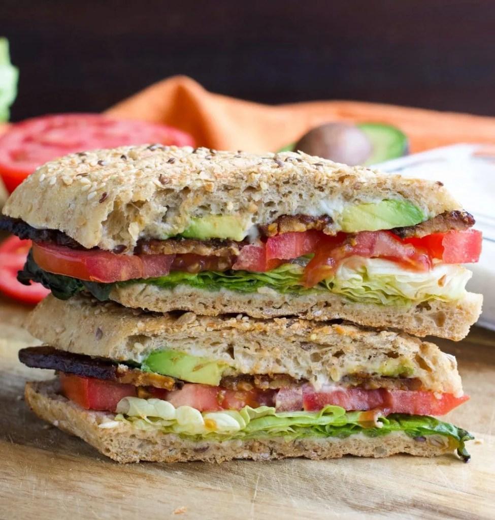 Vegan TTLA Sandwich