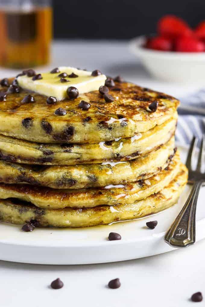 Vegan Chocolate Chip Pancakes