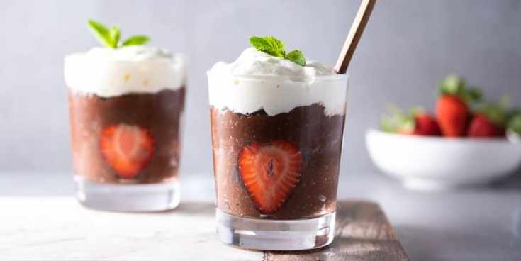 Chocolate Chia Seed Pudding with Almond Milk