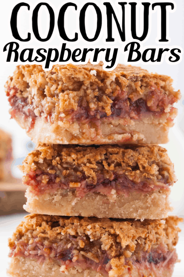 Coconut Raspberry Bars Pin