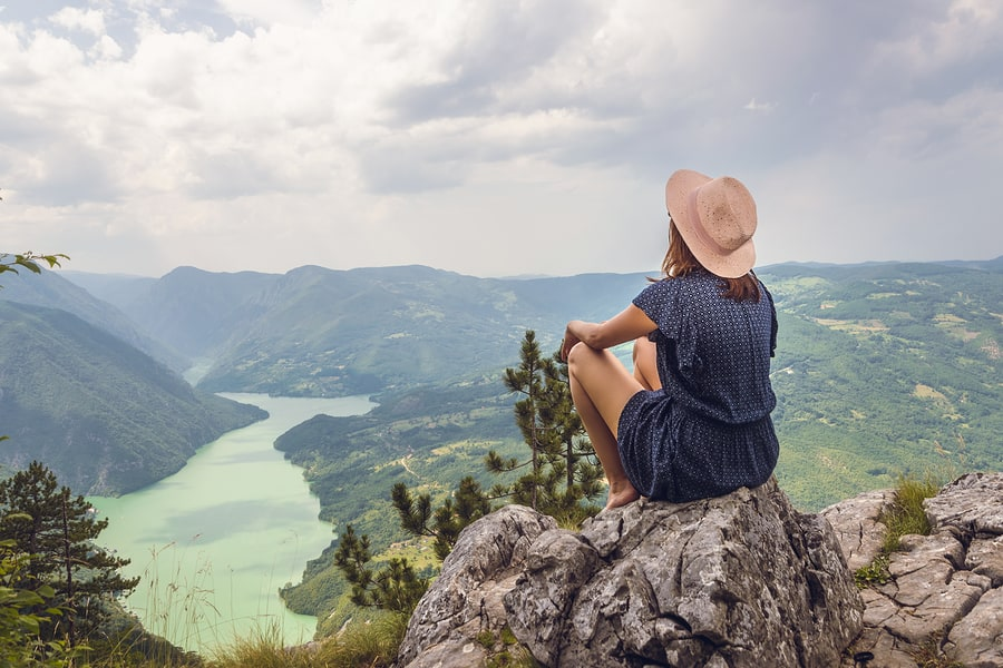 The Importance of Silence: Benefits for the Mind. Traveling outdoor hiking walking nature. Traveling in nature. travel outdoor backpacking nature. Nature. Travel. Traveling. Sunset. Hiking. Nature and beautiful mountain view. Travel landscape nature.