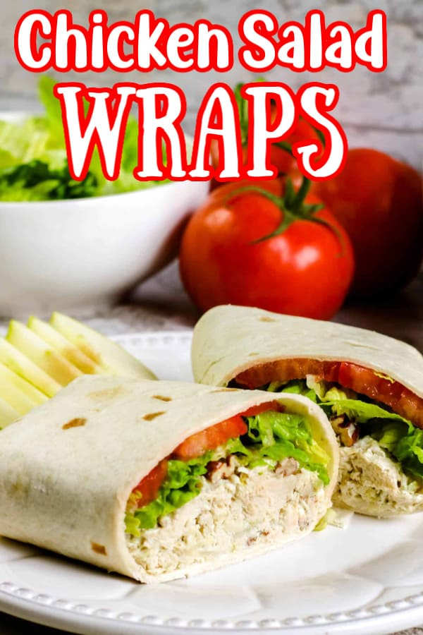 Chicken Salad Wraps Pin