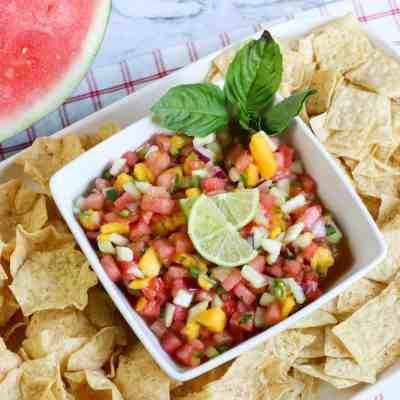 Light and Healthy Watermelon Salsa