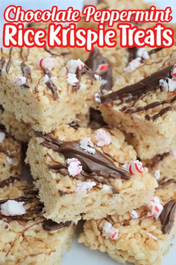 Chocolate Peppermint Rice Krispie Treats Pin