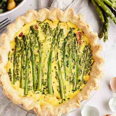 Asparagus and Tomato Quiche with Homemade Crust