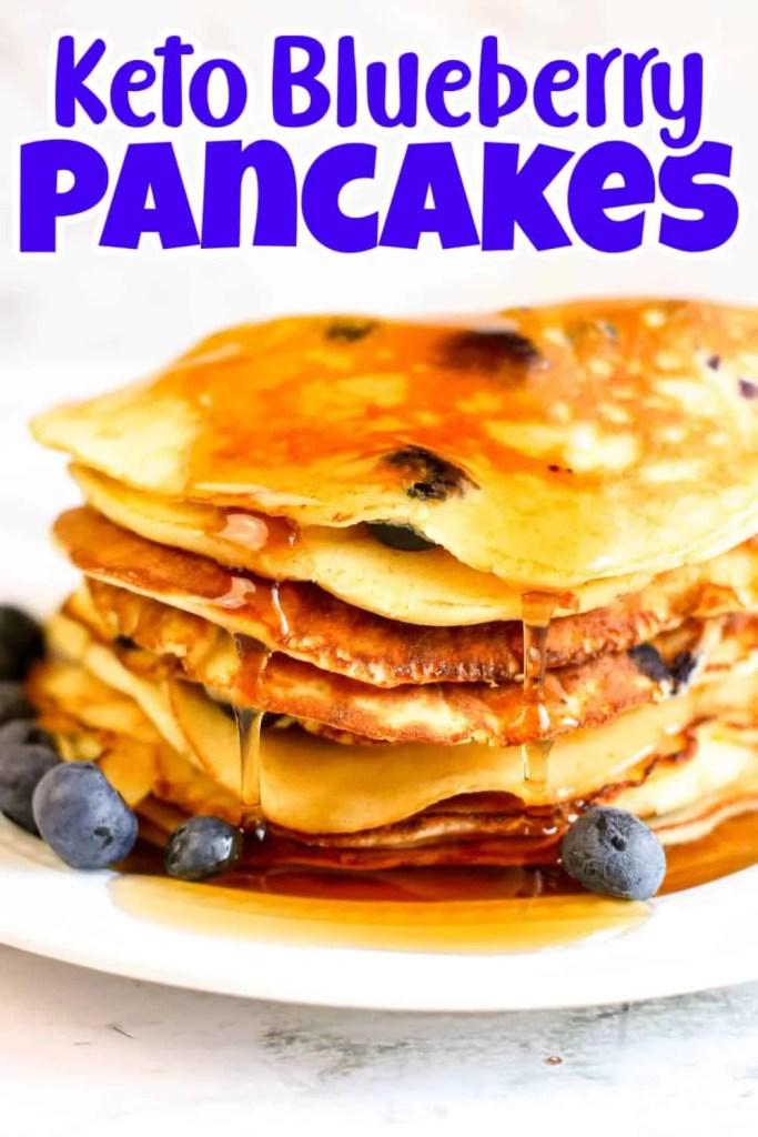 Keto Blueberry Pancakes Recipe