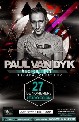 tour mexico Paul van dyk 2014