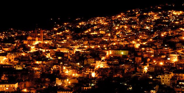 vista nocturna de Taxco