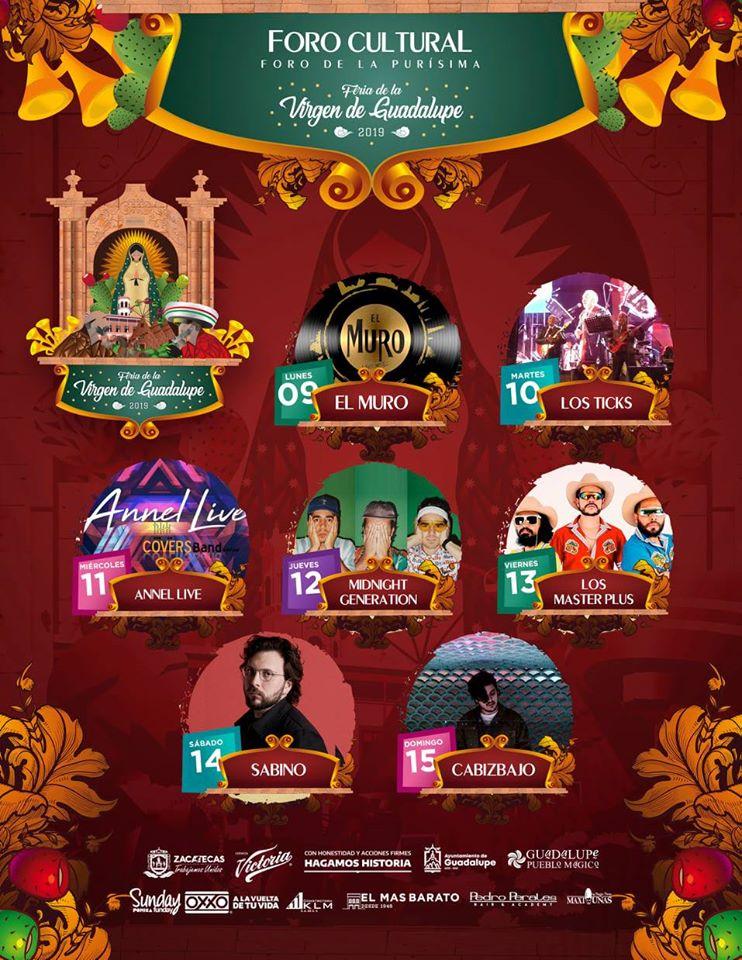 foro cultural feria guadalupe 2019
