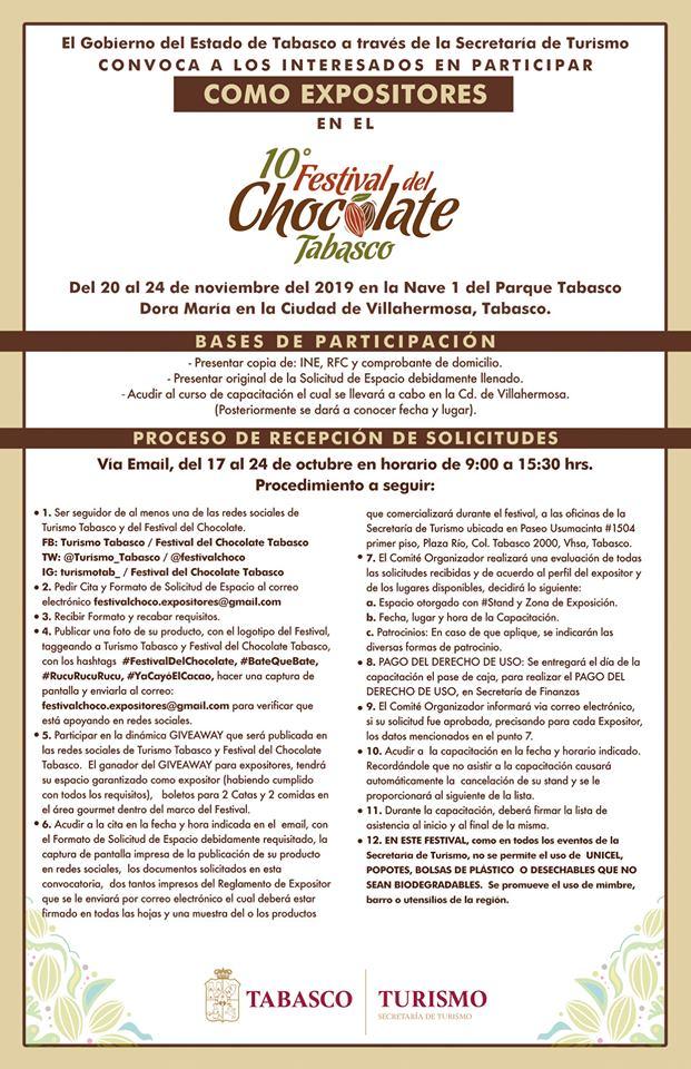participar en el festival del chocolate