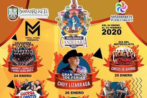 cartelera feria de la candelaria sombrerete 2020