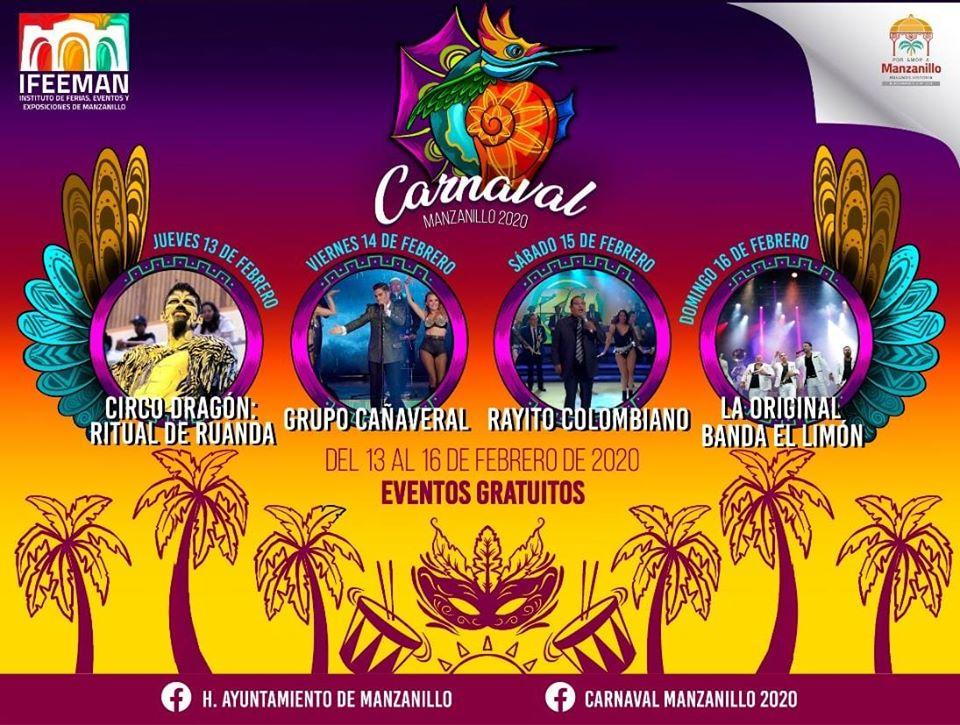 artistas carnaval manzanillo 2020