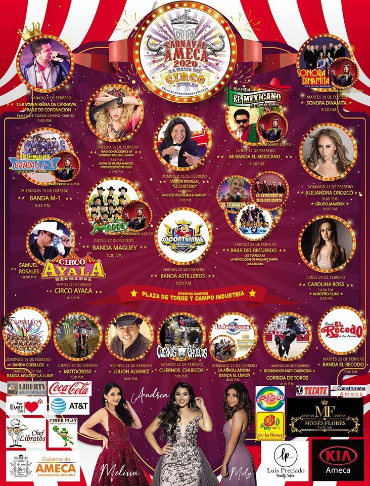 carnaval ameca 2020 programa