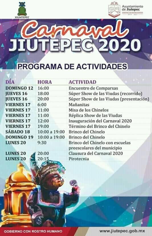 programa carnaval jiutepec 2020
