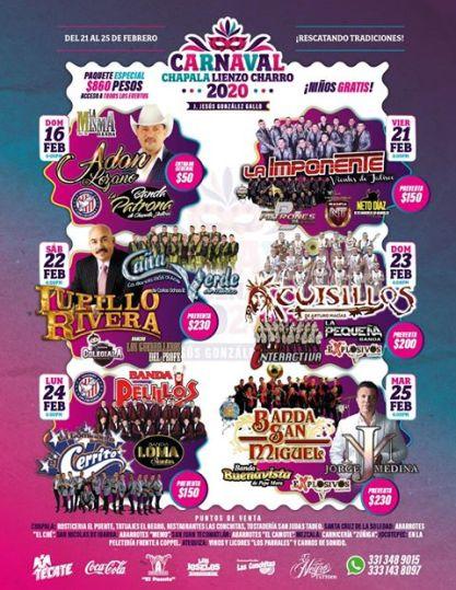 lienzo charro carnaval chapala 2020