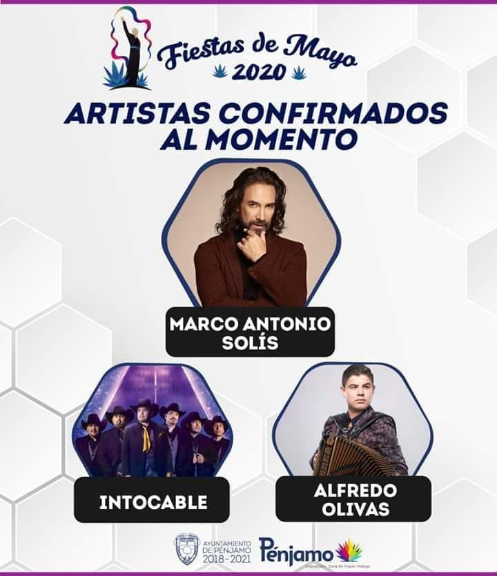 artistas fiestas de mayo pénjamo 2020
