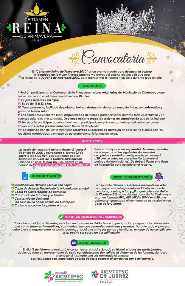 convocatoria reina feria xicotepec 2020