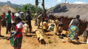 Mwanza Residents affected by fighting in Mozambique