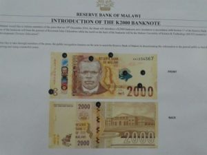 K2000 note to be on Malawi market in December