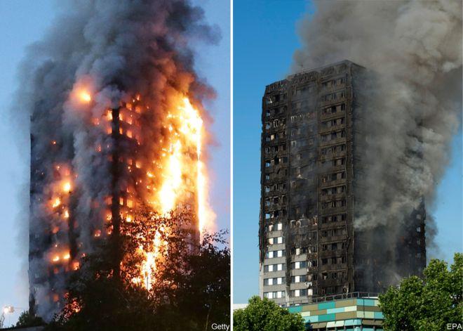 London raging fire