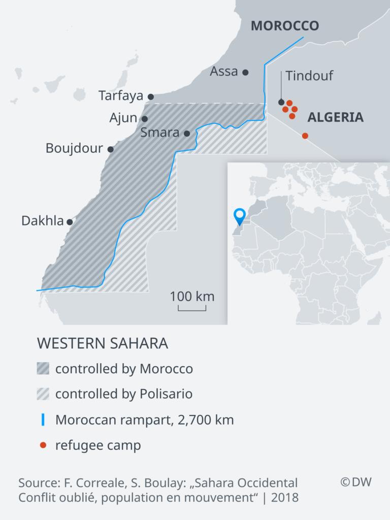 Infografik Karte Westsahara EN