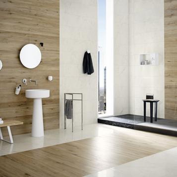 imitation bois et parquet salle de bain