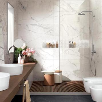 marble effect bathroom tiles marazzi