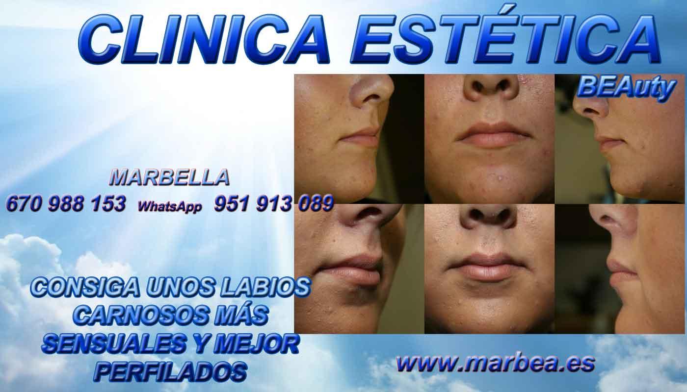 eliminar para quitar arrugas ojos sin cirugia aumento de labios Alicante