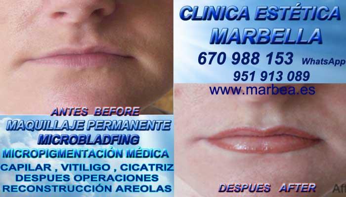 Micropigmentación labios Torremolinos CLINICA ESTÉTICA entrega Micropigmentación labios en Marbella y en Torremolinos